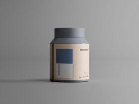 Plastic Jar Packaging Free Mockup