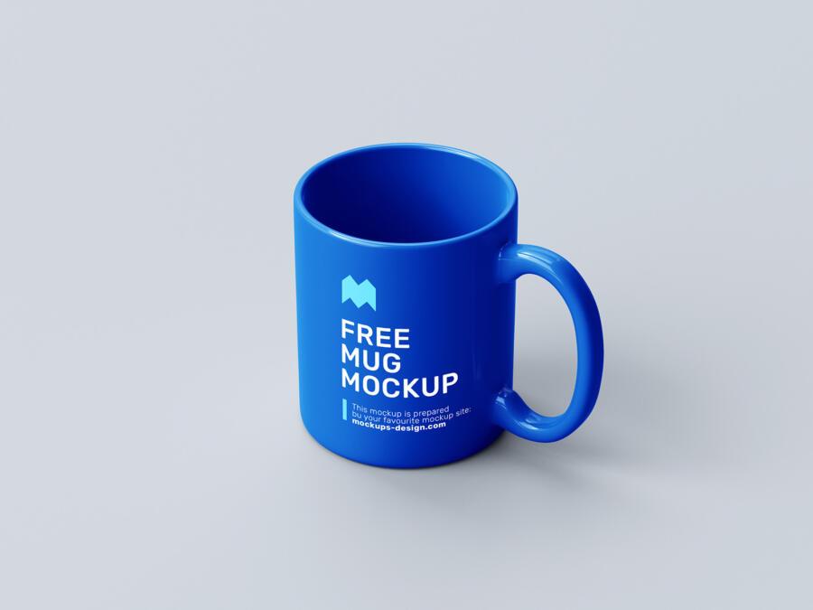 Realistic Mug Set Free Mockup