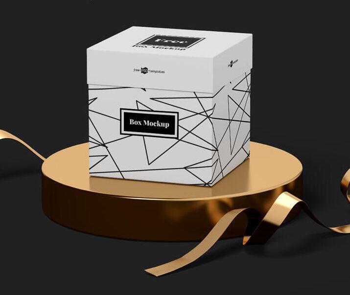 Square Box Free Mockup