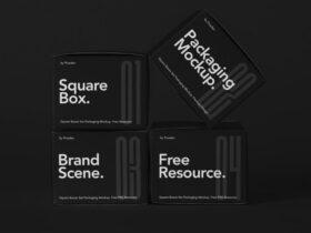 Square Boxes Packaging Mockup Set