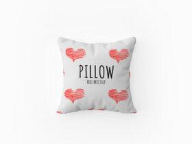 Top View Pillow Free Mockup (PSD)