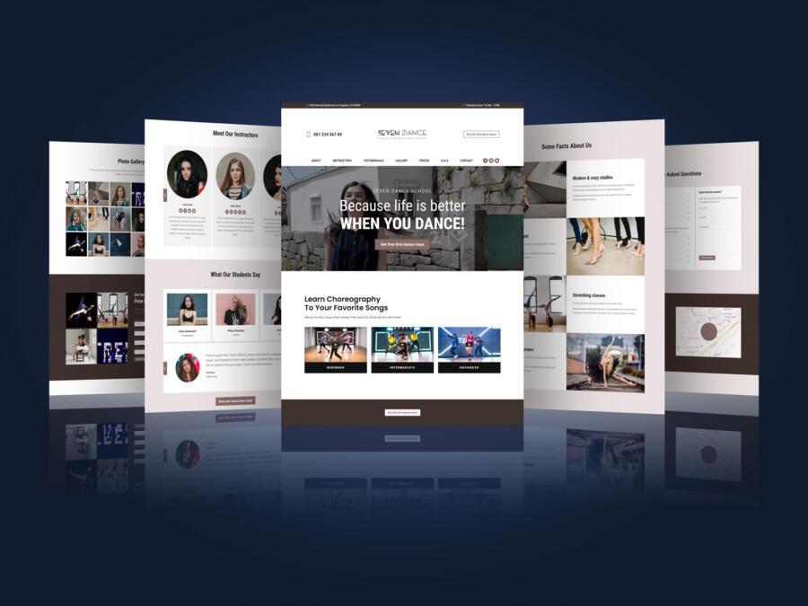 Web Theme / Website Presentation Free Mockup