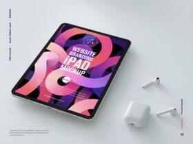 Website Branding iPad Free Mockup