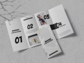 4-Fold Brochure Free Mockup (PSD)