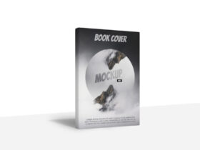 Book Cover Standing Free Mockup