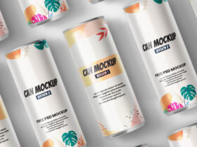 Can Packaging Free Mockup (PSD)