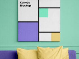 Canvas Square Free Mockup