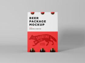 Free Beer Package Mockup (PSD)