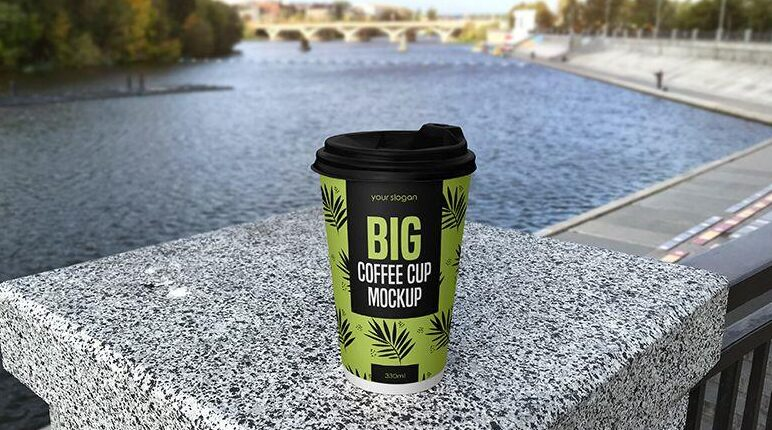 Free Big Coffee Cup Mockup