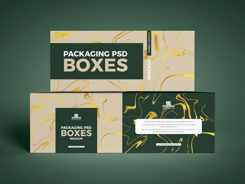 Free Cardboard Boxes Packaging Mockups