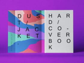 Free Hardcover Book Cover Mockup Scene