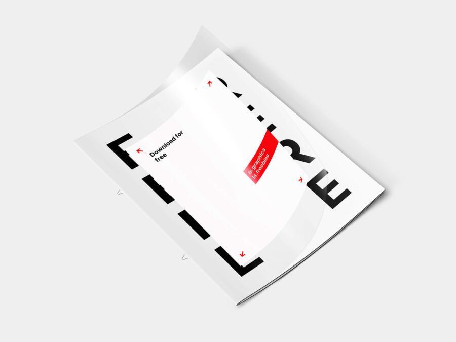 Free Letter Transparent Cover Brochure Mockup