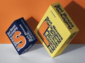 Free Packaging Box Mockup Set