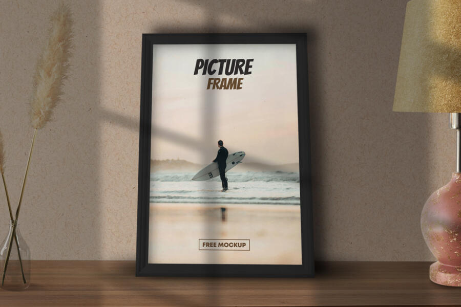Free Picture Poster Frame Mockup