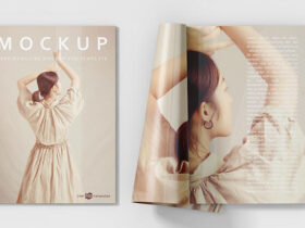Free Softcover Book Mockup (PSD)