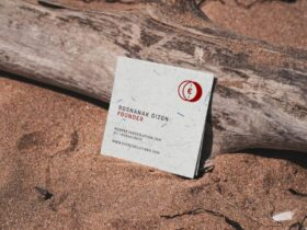 Free Square Business Card Mockup (PSD)