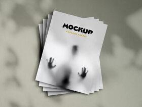 Free Stacked Us Magazines Mockup
