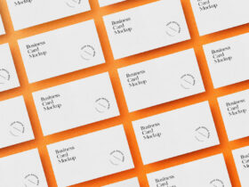 Laid Out Business Cards Free Mockup