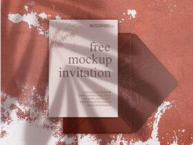 Leaflet Invitation Free Mockup