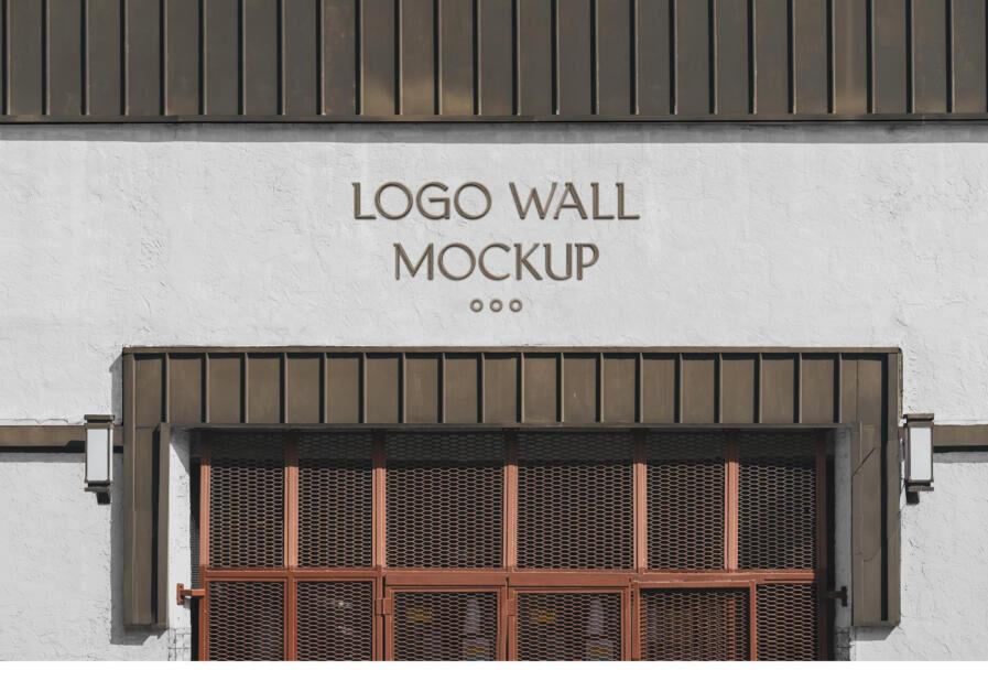 Logo Wall Free Mockup