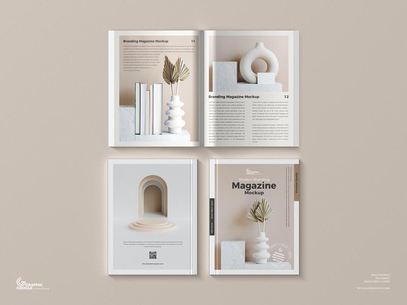 Modern Branding Magazine Free Mockup