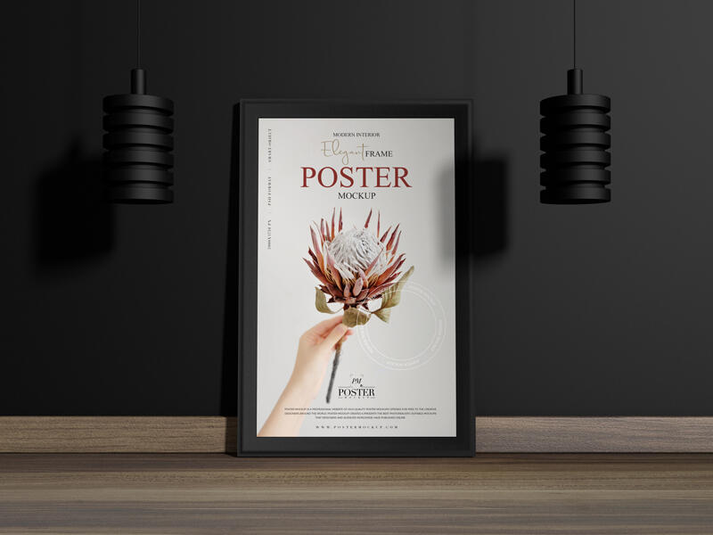 Modern Interior Elegant Frame Poster Free Mockup