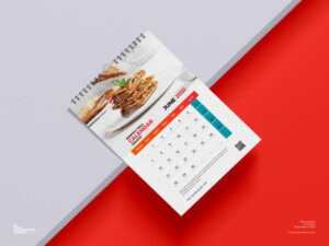 Monthly Wall Calendar Free Mockup