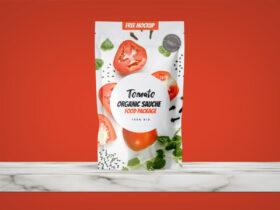 Organic Food Packaging Free Mockup
