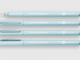 Pen in 4 Different Positions Free Mockup