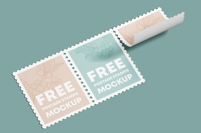 Postage Stamp Free Mockup