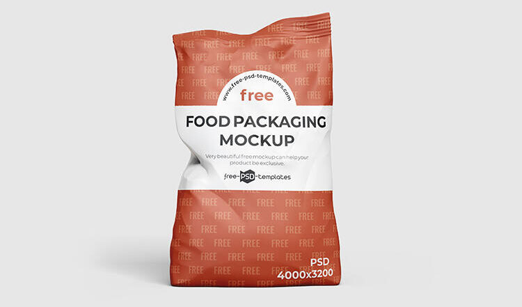 Snack Pouch Packaging Free Mockup
