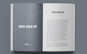 Soft Cover Book Free Mockup (PSD)