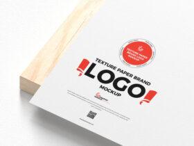 Texture Paper Brand Logo Free Mockup