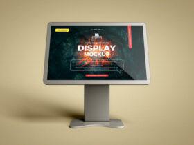Touch Screen Digital Display Free Mockup