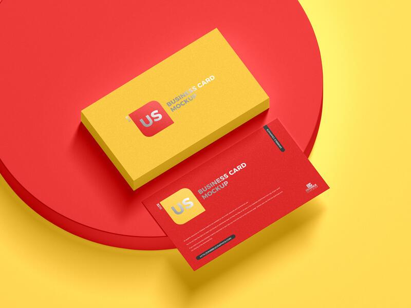 US Size Business Card Free Mockup