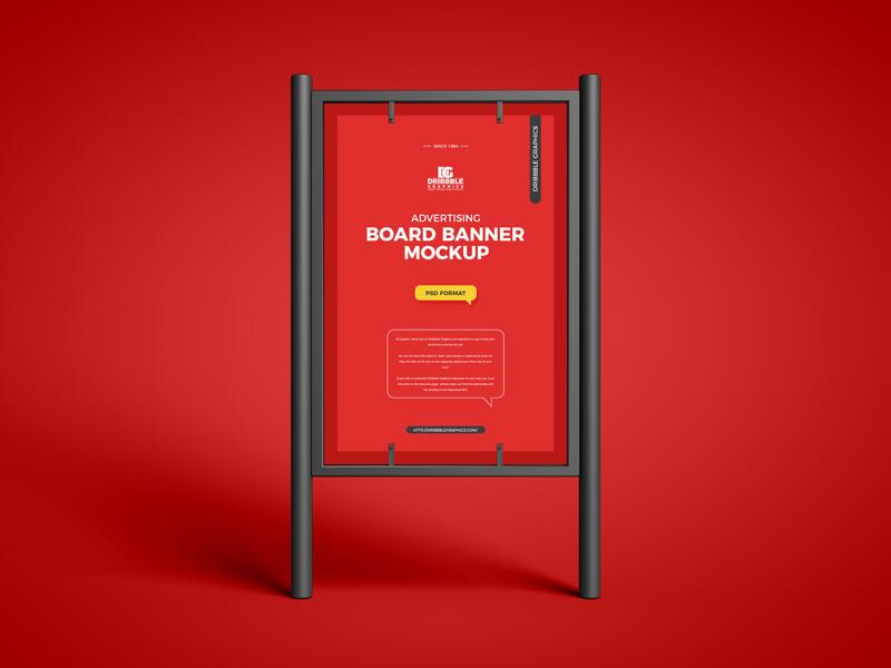Advertising Board Banner Free Mockup