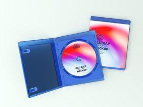 Blu Ray Cover Free Mockup