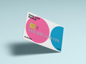 Debit Card Free Mockup (PSD)