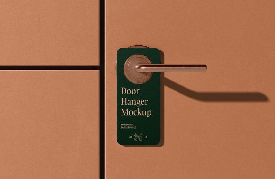 Door Hanger Free Mockup (PSD)