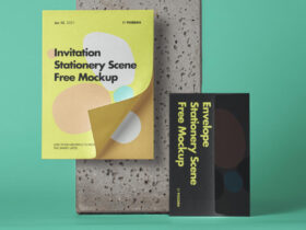 Envelope Stationery Free Mockup Scene