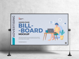 Frame Advertising Horizontal Billboard Free Mockup