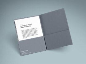Free A4 Folder and Paper Mockup