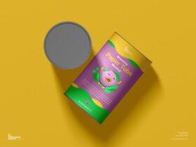Free Branding Paper Tube Mockup