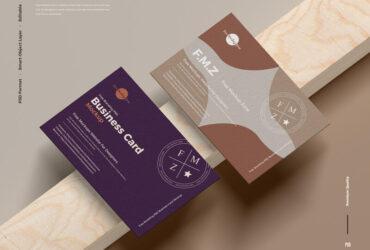 Free Branding UK Size Business Card Mockup