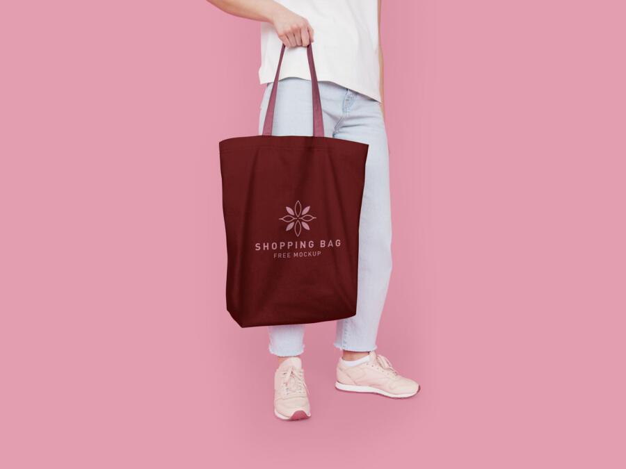 Free Eco-Friendly Cotton Shopping Bag Mockup