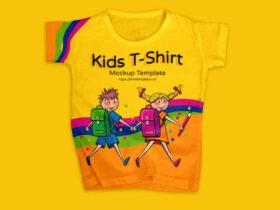 Free Modern Kids T-Shirt Mockup