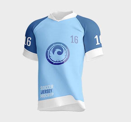 Free Soccer Jersey Front & Back Side Mockup