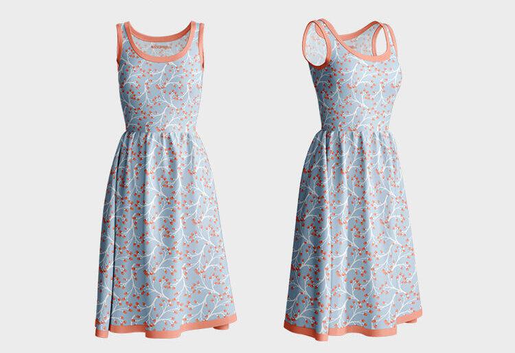 Free Summer Dress Mockup (PSD)
