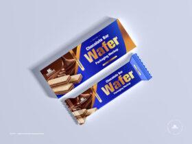 Free Wafer Chocolate Bar Packaging Mockup