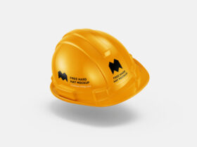 Hard Hat Construction Free Mockup